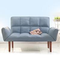 小户型懒人沙发双人卧室阳台榻榻米床可折叠两用布艺休闲小沙发椅