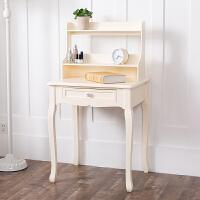 书桌简约书架组合欧式家用实木学生写字桌经济型省空间卧室