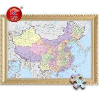成人1000片中国世界地图拼图木质2000儿童益智玩具趣味地理知识