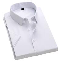 2019夏季新款商务衬衫男士短袖休闲衬衣韩版修身白寸衫