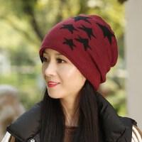 毛线帽子女运动潮百搭护耳潮流时尚女士保暖帽
