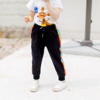 儿童运动裤子女童休闲裤小童哈伦裤女宝宝夏季5小女孩薄款1-3岁潮