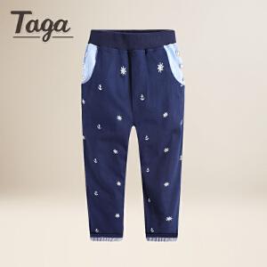 TAGA春秋新款童装男童裤子小孩中大童儿童休闲裤男孩长裤