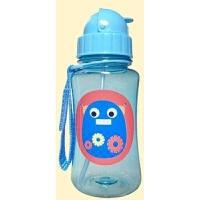 吸管杯 透明卡通动物图案翻盖杯 环保安全婴幼儿童学饮杯供应 350mL
