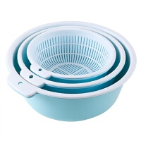 控水水果篮 双层塑料沥水篮洗菜盆洗菜篮厨房家用创意淘米洗水果菜篮子水果盘