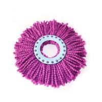 用好神拖旋转拖把头 替换装拖布墩布头加厚不易掉毛好神拖旋转拖把头替换拖布头通用 一个紫色