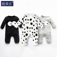 婴儿连体衣服宝宝新生儿冬季0岁3月季满月肩开连体衣8新年