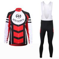 品牌女款骑行服长袖套装自行车服春秋季吸湿排汗速干衣