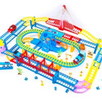 轨道车小火车电动车儿童玩具高速轨道车头套装赛车轨道玩具汽车男孩女孩儿童礼物