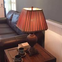 欧式台灯卧室奢华复古美式台灯卧室床头灯客厅乡村创意浪漫