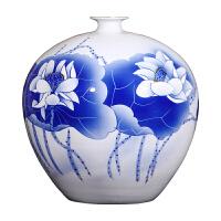 家居摆件青花陶瓷器 花开富贵花瓶客厅