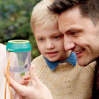 Hape昆虫观察罐4-6岁儿童户外探险玩具环保材质4倍高清放大镜