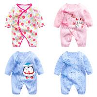 婴儿连体衣服0岁3月7宝宝新生儿冬装加厚冬季保暖内衣睡衣