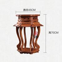 花架木客厅置物架花几花架子实木中式古典家具 六角香几45*70