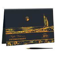 世界名城夜景刮画:迪拜夜景