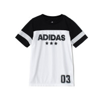 adidas阿迪达斯男童短袖T恤2018新款休闲运动服CV5393