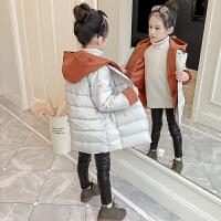 儿童冬装外套中长款童装女孩潮女童洋气棉衣棉袄