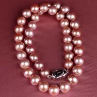 收藏级稀有色紫色珍珠项链 001029