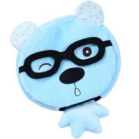 鼠标暖手罩 暖手宝保暖USB暖手套插电加热发热鼠标罩带护腕可拆洗冬天 蓝色小狗 加绒