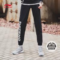 李宁迪士尼星战联名款卫裤男新款加绒保暖休闲冬季运动裤AKLNA61