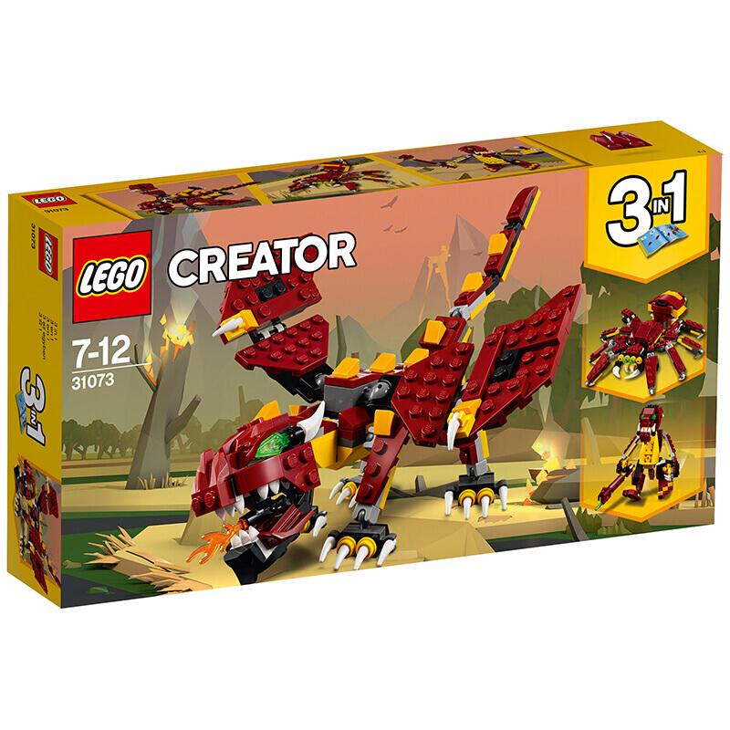 【当当自营】乐高(LEGO)积木 创意百变组Creator 玩具礼物 神秘怪兽 31073 【实力宠粉 乐享好价】创意百变3in1,拼搭3中神秘怪兽!