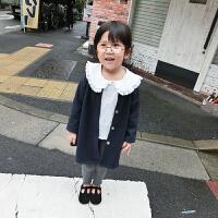 2017秋冬新款童装女童中长款毛呢外套小童婴儿宝宝呢子大衣
