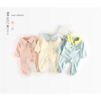 新生儿衣服春秋婴儿公主连体衣儿哈衣女宝宝12爬爬服0-3-6个月1岁