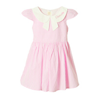 夏�b2018新款女童�B衣裙中大童�n版夏季小女孩裙子�和�洋�夤�主裙 粉色 【QZ1866】