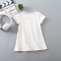 女童连衣裙宝宝短袖T恤长款童装裙子夏季女孩睡衣儿童睡裙女