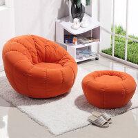 小凳子家用��子小矮凳简易凳子小户型客厅懒人沙发榻榻米现代简约沙发椅单人卧室组合实南瓜椅w