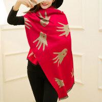 时尚保暖学生围巾披肩围巾加厚女士仿羊绒女围巾