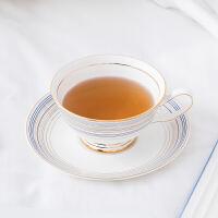 奇居良品 下午茶陶瓷茶具 函纳现代条纹骨瓷咖啡杯碟套装