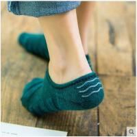 袜子女秋冬季加厚毛圈底船袜女纯棉硅胶防滑隐形浅口运动毛巾短袜