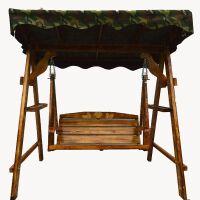 摇篮户外吊椅防腐实木吊篮秋千阳台摇椅双人室内庭院家具荡椅