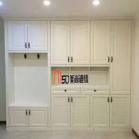 上海定制定做鞋柜阳台柜储物柜家用整体门口客厅入户玄关多功能柜 酒红色 定金 组装