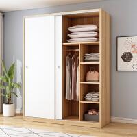 【满减优惠】衣柜实木质简易现代简约推拉门衣橱出租房家用经济型卧室收纳柜子