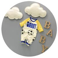 婴儿连体衣纯棉春秋新生儿衣服初生0-3-6个月宝宝哈衣长袖外出服