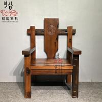 老船木茶桌椅组合中式仿古茶艺桌简约阳台实木茶几户外古船木家具 整装