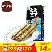 【三只松鼠_九日牌海苔味QQ棒60gx2盒】进口零食品好吃的饼干