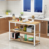 厨房置物架切菜桌家用收纳架落地简易层架微波炉架储物操作台定制