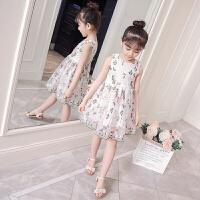 女童刺绣花连衣裙背心裙夏季儿童装衣服女孩公主裙洋气潮