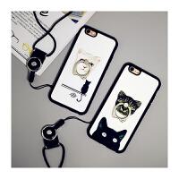【包邮】智尚 iPhone6plus手机壳指环支架苹果6S手机壳4.7挂脖绳硅胶软