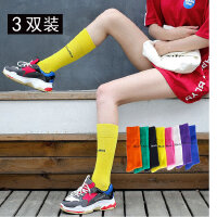 长袜女潮彩色堆堆袜薄款韩国春秋糖果色中筒袜韩版学院风长袜