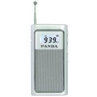 熊猫/PANDA 6200 充电插卡收音机老人迷你袖珍便携式半导体播放器 银色