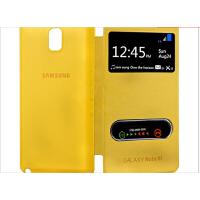 韩国三星note3保护套N9006手机壳皮套开窗N9008双开屏N9009套 需拆电池后盖才能安装的保护套 双开窗保护