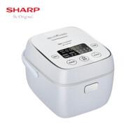 夏普(SHARP)微电脑电饭煲2L复合内胆 24H预约触摸操控 多功能智能电饭锅 KS-D20FGA-W(雅尚白)