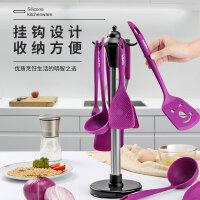 老爹耐高温硅胶锅铲厨房不粘锅专用炒菜铲子汤勺套装家用厨具铲小