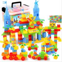 积木拼装玩具益智小孩男孩塑料拼插宝宝大块大颗粒儿童智力开发号 2.5cm 220块城堡积木【收纳盒】
