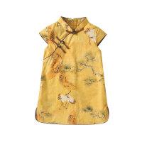女童旗袍夏季薄款女宝宝改良中国风连衣裙婴儿小裙子儿童唐装