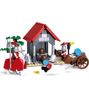 【当当自营】小鲁班刺客传奇系列儿童益智拼装积木玩具 水源补给站M38-B0613